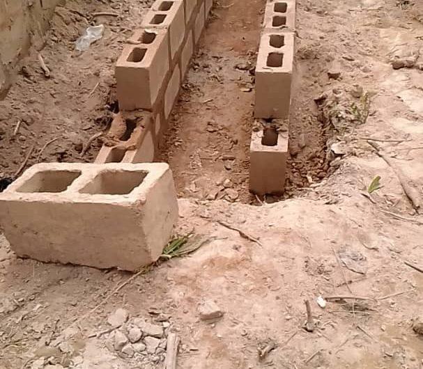 Bau der Drainage